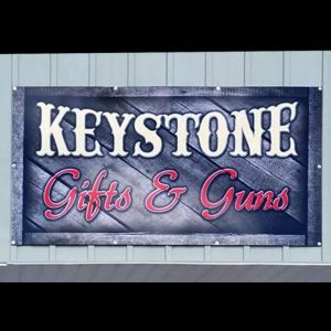 Keystone Gifts and Guns Sign